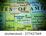 Map View Of Oklahoma On A...
