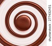 sweet swirl background  cream... | Shutterstock .eps vector #277432451