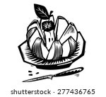 digital engraving   black and... | Shutterstock .eps vector #277436765