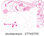 abstract floral background with ...   Shutterstock .eps vector #27743755