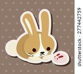 animal rabbit cartoon theme... | Shutterstock .eps vector #277442759
