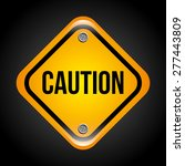 caution signals design  vector... | Shutterstock .eps vector #277443809