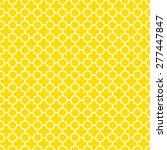 yellow   white quatrefoil...   Shutterstock . vector #277447847