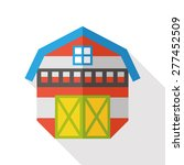 barn flat icon with long shadow   Shutterstock .eps vector #277452509