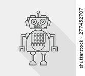 robot concept flat icon with... | Shutterstock .eps vector #277452707
