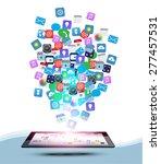 vector design tablet computer... | Shutterstock .eps vector #277457531