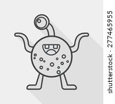 space alien flat icon with long ... | Shutterstock .eps vector #277465955