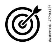 target bullseye or arrow on... | Shutterstock .eps vector #277466879