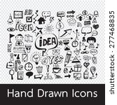 hand drawn icons | Shutterstock .eps vector #277468835