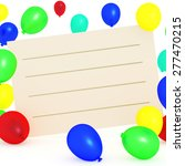 empty text box with balloons | Shutterstock . vector #277470215