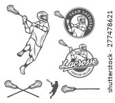 set of lacrosse design elements | Shutterstock .eps vector #277478621