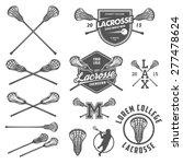 set of lacrosse design elements   Shutterstock .eps vector #277478624