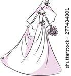 bride | Shutterstock .eps vector #277484801