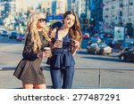 lifestyle portrait of two best... | Shutterstock . vector #277487291