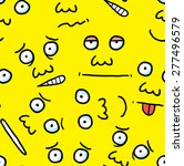 cartoon face background | Shutterstock .eps vector #277496579