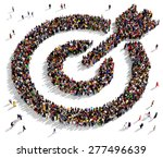 large group of people seen from ... | Shutterstock . vector #277496639