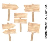 watercolor wooden sign boards... | Shutterstock .eps vector #277504055