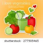 vegetarianism  set  vegetables  ... | Shutterstock .eps vector #277505465