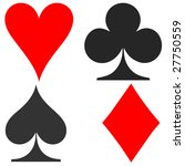 playing card symbols   Shutterstock . vector #27750559