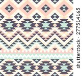 seamless pattern with ethnic... | Shutterstock .eps vector #277514165