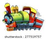 Cartoon Steam Train  ...
