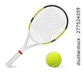 combinated tennis racket and... | Shutterstock .eps vector #277524359