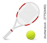 combinated tennis racket and... | Shutterstock .eps vector #277524401