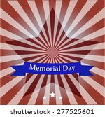 happy memorial day   stars and...   Shutterstock .eps vector #277525601