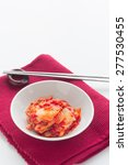 Small photo of Chinese cabbage kimchi , korean food , korean barbecue side dish