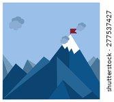 vector flat flag on mountain.... | Shutterstock .eps vector #277537427
