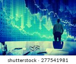 businessman stock market crisis ... | Shutterstock . vector #277541981
