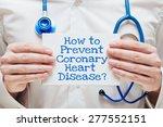 how to prevent coronary heart... | Shutterstock . vector #277552151