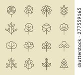 trees line icon set | Shutterstock .eps vector #277559165