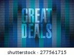 great deals sign concept... | Shutterstock .eps vector #277561715