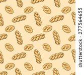 hand drawn bakery seamless... | Shutterstock .eps vector #277564655