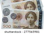 norwegian 500 crones paper... | Shutterstock . vector #277565981
