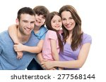 young family with two kids    Shutterstock . vector #277568144