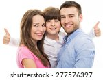 family showing thumbs up    Shutterstock . vector #277576397