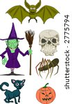 Halloween Illustrations. Raster version - stock photo
