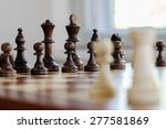 chess board with chess pieces...   Shutterstock . vector #277581869