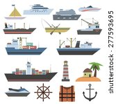 Ships And Sailing Vessels Flat...