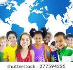 global globalization world map... | Shutterstock . vector #277594235