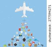 vector flat concept of world... | Shutterstock .eps vector #277594271