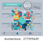 seo marketing infographics set... | Shutterstock .eps vector #277595639
