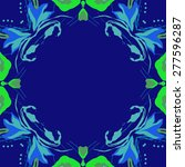 circular seamless pattern of... | Shutterstock . vector #277596287