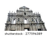 ruins of st.paul  is the most... | Shutterstock . vector #277596389
