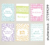 a set of 6 hand painted minimal ... | Shutterstock .eps vector #277599299