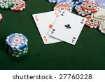 aces  dollars and chips lying... | Shutterstock . vector #27760228