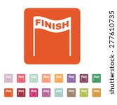 the finish icon. finish symbol. ... | Shutterstock .eps vector #277610735