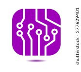 circuit board  icon. technology ... | Shutterstock .eps vector #277629401